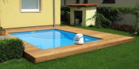 Decking bazéna materiál ( Cumaru Clasic Reeded )