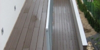 Decking balkona materiál ( Ideck WPC farba dark brown )