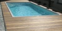 Deckingová terasa bazená materiál ( Cumaru Tico )