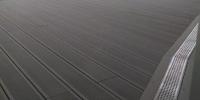 Strešná nekotvená terasa zo zapracovaním nerezovým žľabom materiál ( Kompozit )