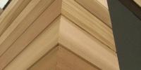 Detail rohu fasády materiál ( Céder )