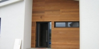 Drevenný fasádny obklad materiál (Céder