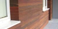 Drevenný fasádny obklad materiál ( Ipe Lapacho Valencia )