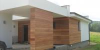 Drevenný fasádny obklad materiál ( Meranti )