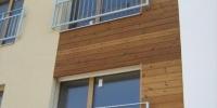 Drevenný fasádny obklad materiál ( Termo borovica )