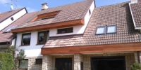 Drevenný obklad domu materiál ( Meranti )