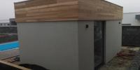 Drevenný obklad miestnosť pre wellnes materiál ( Céder )