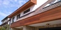 Fasádny obklad domu materiál ( Meranti )