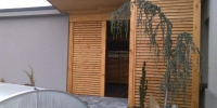 Drevená zástena materiál ( S.Smrekovec profil Rhombus )
