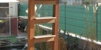 Rebrík do bazéna, materiál Bangkirai