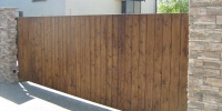 Brána materiál (Sibírsky Smrekovec farba orech )