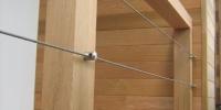 Detail uchytenia nerezového lanka