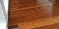 Deckingová terasa materiál ( Cumaru profil Tico )