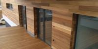 Deckingová terasa materiál ( Garapa Tico ) fasádni obklad materiál ( Céder )