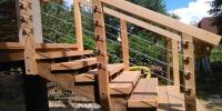 Drevenné schody zabradlie,nerez
