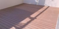 Nekotvená strešná terasa materiál ( WPC prémium forest palisander )