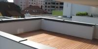 Strešná deckingová terasa materiál ( Merbau iclip )