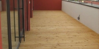 Strešná drevenná terasa materiál ( S. Smrekovec )