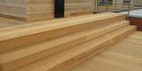 drevenné schodisko materiál ( Garapa )