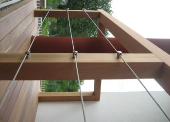 Decking balkona materiál ( Cumaru i clip smooth zábradlie Céder , nerez )