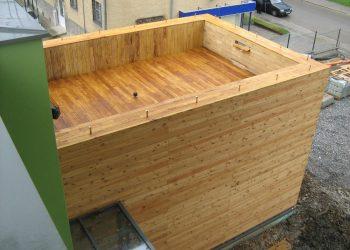 Deckingová terasa materiál ( Agát ) Fasádny obklad materiál ( Smrekovec )