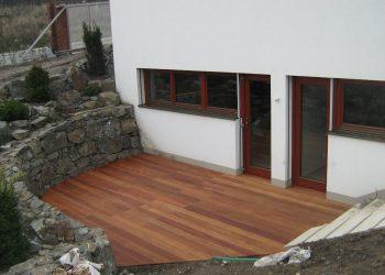Deckingová terasa materiál ( Cumaru )