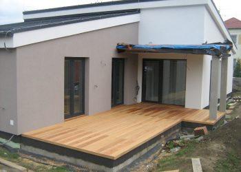 Deckingová terasa materiál ( Garapa )