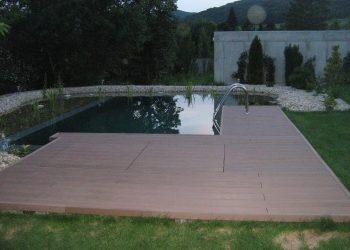 Deckingová terasa materiál ( IDECK Compozite LUNA farba tmavo hnedá )