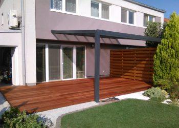 Deckingová terasa zo zástenou materiál ( Kempas )