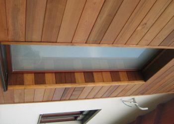 Detail obkladu okna materiál ( Céder )