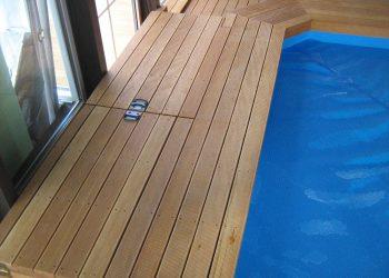 Detail prekrytia strojovne bazéna materiál ( Badi )