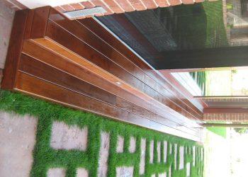 Detail schodiska z osvetlením materiál ( Ipe Lapacho )