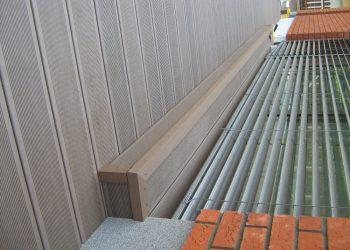 Detail schodu materiál ( Ideck WPC farba dark brown )