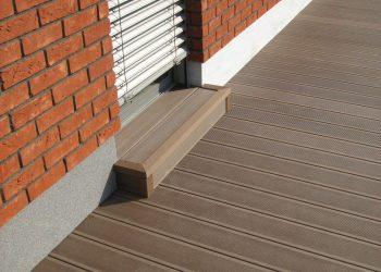 Detail schodu materiál ( Ideck WPC farba dark brown ) (2)