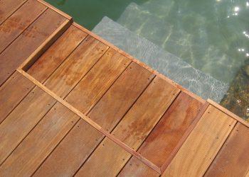 Detail vnútorného schodu materiál ( Cumaru )