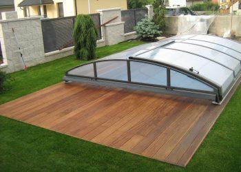 Drevenná terasa bazéna ( Cumaru )