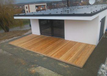 Drevenná terasa materiál ( S. Smrekovec )