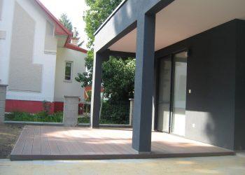 Drevenná terasa rodinného domu materiál ( Garapa )