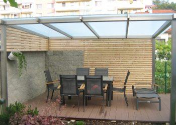 Drevenná zástena prístrešku materiál ( S.Smrekovec profil Rhombus )