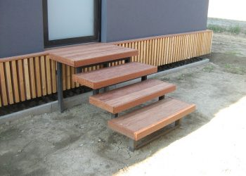 Levitujúce schodisko materiál ( Garapa )