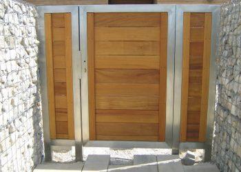 Obklad brány materiál ( Garapa )