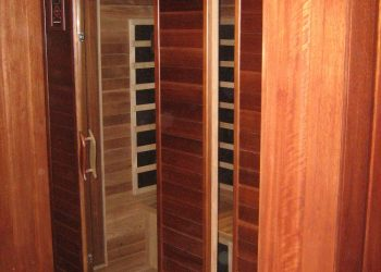 Obklad sauny materiál ( Meranti )