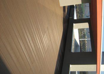 Strešná deckingová terasa ( materiál Ideck WPC farba Dark Brown )