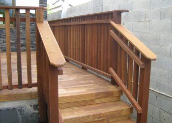terasa,materiál( Agát) zábradlie,materiál(Tatajuba)