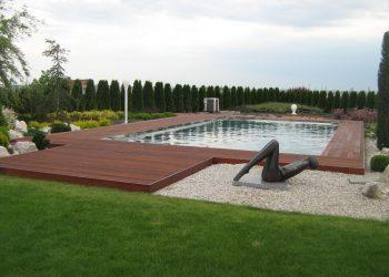 Decking bazéna materiál ( Kempas )