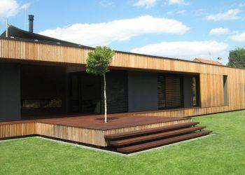 Drevenný obklad ( S.Smrekovec terasa ( Kempas )