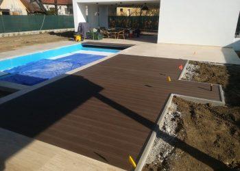 Deckingová terasa materiál ( WPC Luna farba Dark brown )