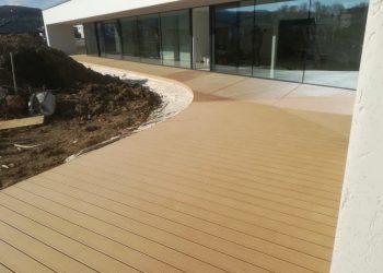 Deckingová terasa materiál ( WPC prémium forest farba Teak )