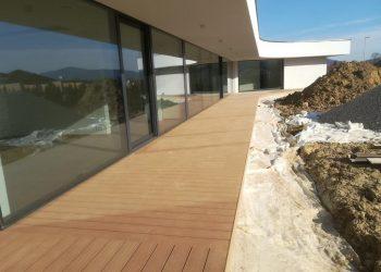 Drevoplastová terasa materiál ( WPC prémium forest farba Teak )
