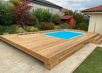 decking bazéna materiál ( Garapa )